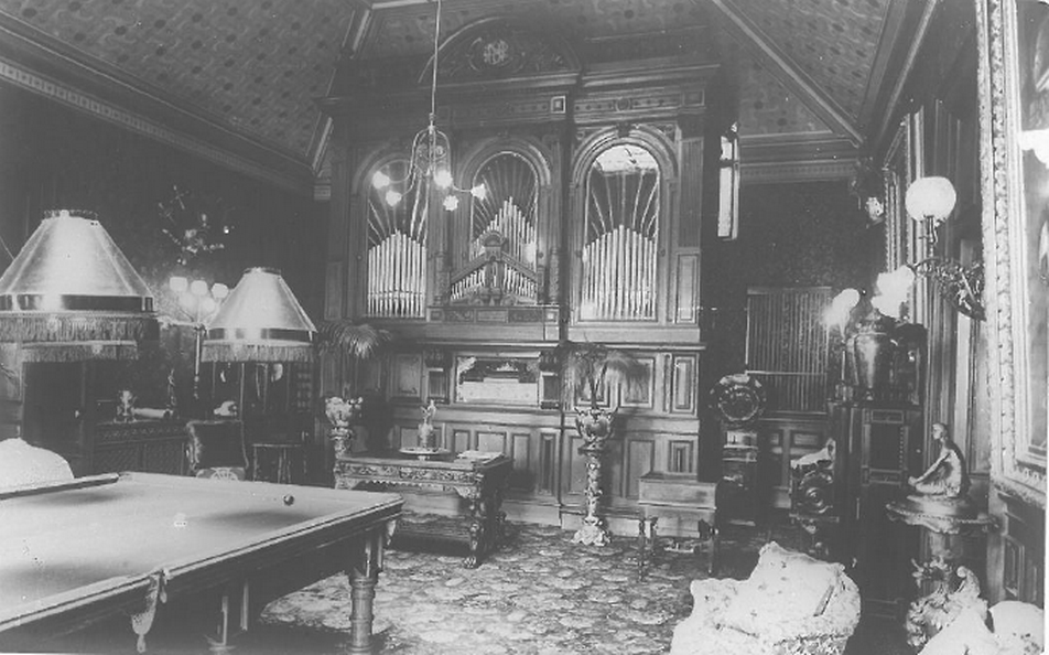 Nicolini's fabulous Orchestrion in the Billiard Room (now the function room) at Craig y Nos Castle.