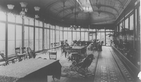 Conservatory in its later incarnation, circa 1910-1920, when it was probably used as a dining room.