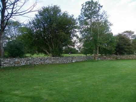 Craig y Nos Farmhouse garden area laid to lawn