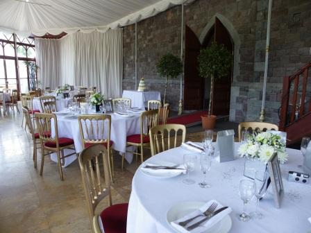 Conference Venue - Craig y Nos Castle Conservatory set up as dining room
