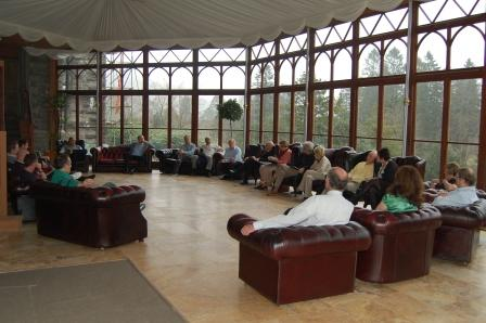 Conference Venue showing a conference in Session - Craig y Nos Castle Conservatory