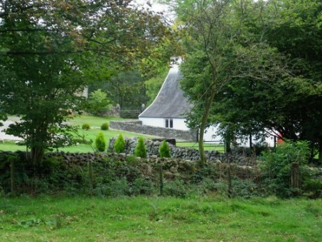 Craig y Nos Farmhouse viewed from one of the farm's fields