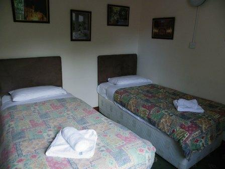 Brecon Beacons Hotels - Nurses Block twin bedroom Craig y Nos Castle