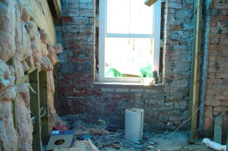 Brecon Beacons Hotels en-suite being constructed out of a former derelict room