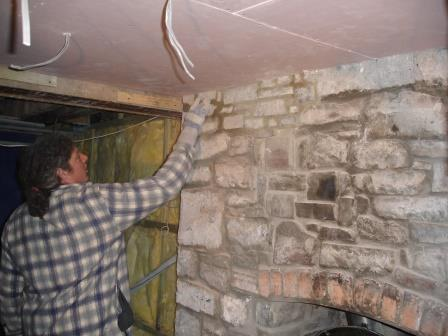 Blue Bar restoration at Brecon Beacons Hotel Craig y Nos Castle in the Upper Swansea Valley