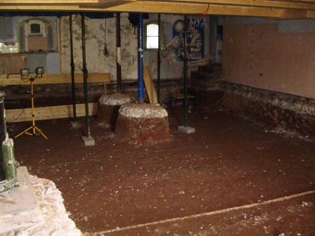 Digging down the Blue Bar floor to gain extra height - a massive project that ran out of time to complete