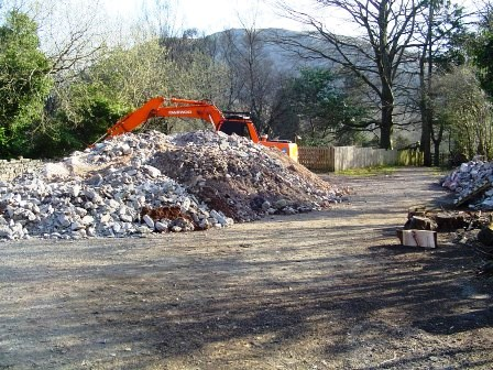 Here is part of the pile of rubble from the blue bar excavation and other works accumulating in the rear car park