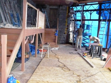 Brecon Beacons Hotel Craig y Nos Castle Conservatory staircase being built