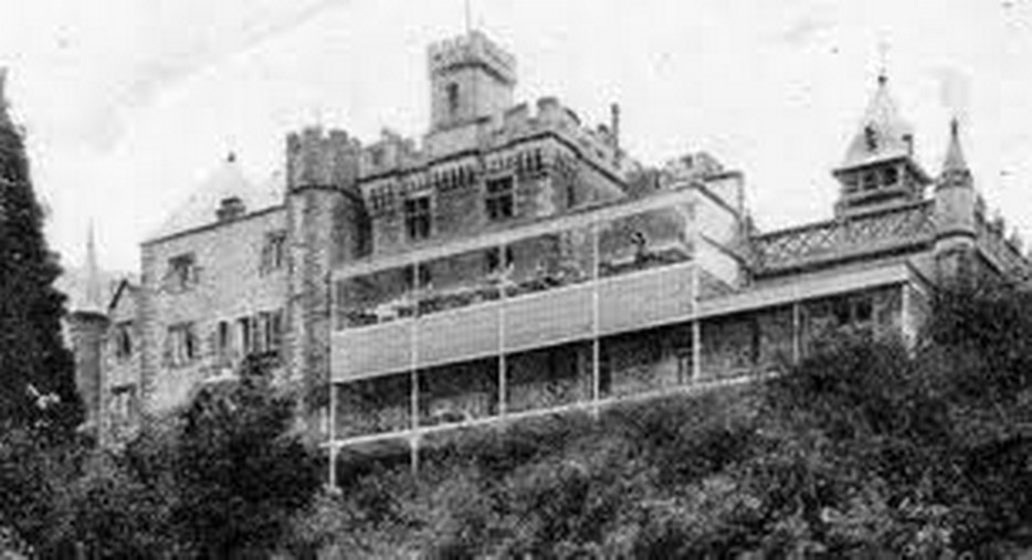 Brecon Beacons Hotels Craig y Nos Castle old hospital terraces for former TB Patients to stay outside on hospital trolleys