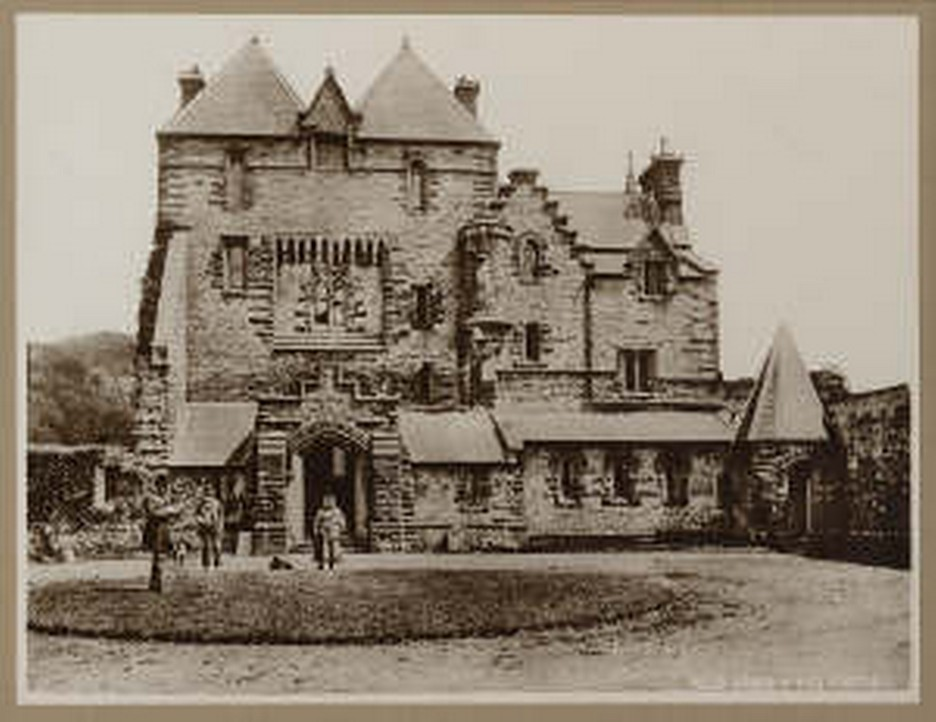 Brecon Beacons Hotels Craig y Nos Castle as built by original and first owner, Captain Rice Powell - picture taken circa 1843-1878