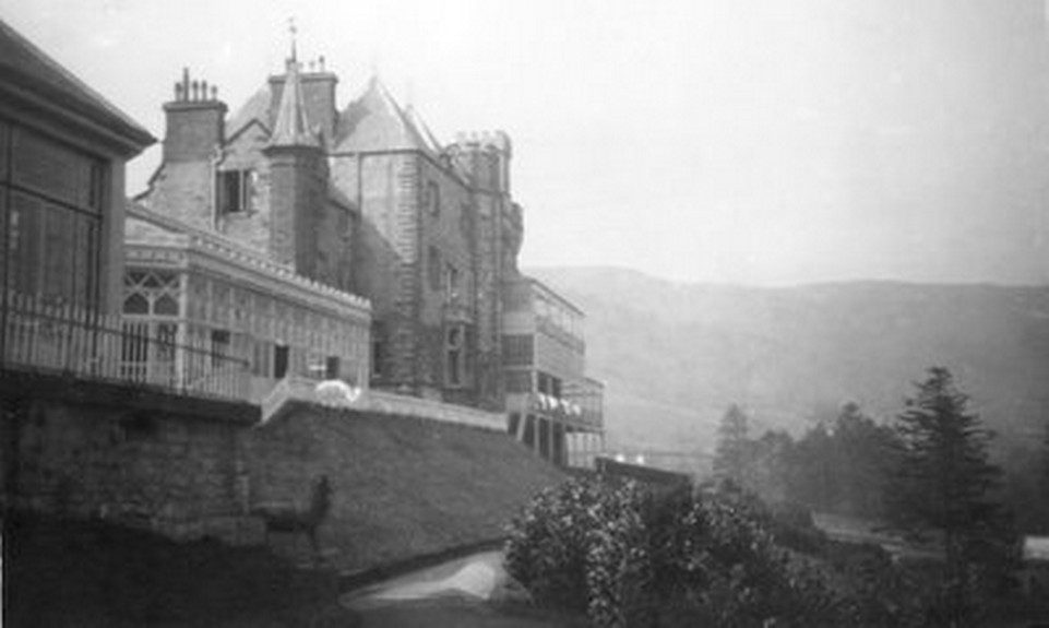 Rear of Craig y Nos Castle probably in the late 1940's.