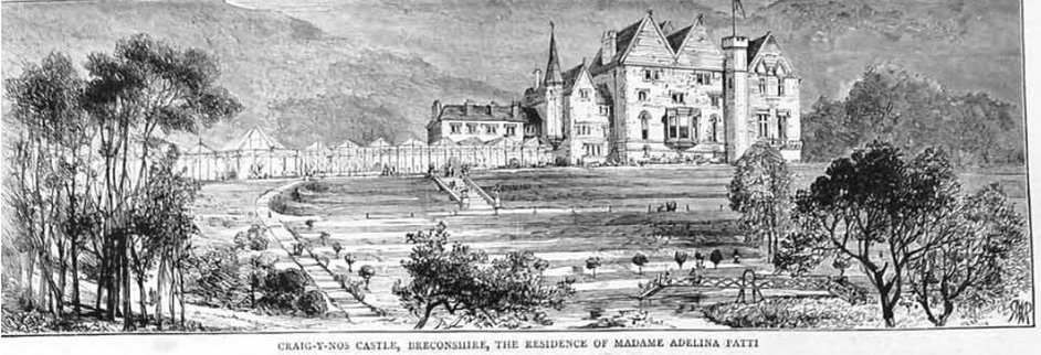 Craig y Nos Castle - this is probably circa 1880 as the theatre is yet to be built.