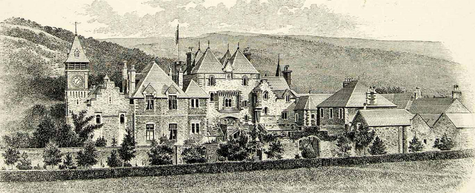 Craig y Nos Castle circa 1880-1885 before hte theatre was built