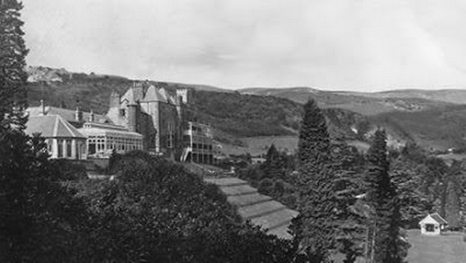 Rear aspect of Craig y Nos Castle in the 1950's