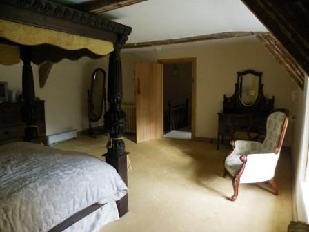 Brecon Beacons Self-Catering Holiday Cottage Craig y Nos Farmhouse master bedroom