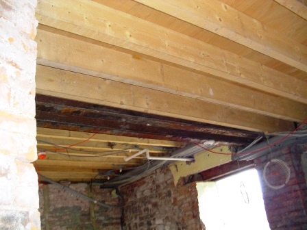 All the flloor/ ceiling joists in all the en-suites and all the ground floor rooms of the castle have had to be replaced