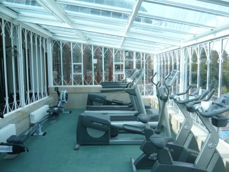 Brecon Beacons Hotels sports room exercise equipment Craig y Nos Castle