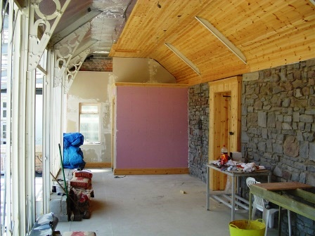 Spa under refurbishment - new roof, new walls, new floor, new insulation - a complete makeover
