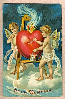 Antique Valentines Card