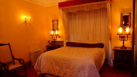 The Bridal Suite at Brecon Beacons Hotel Craig y Nos Castle in the former chapel of Adelina Patti