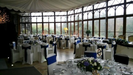 The Conservatory at Brecon Beacons Hotel Craig y Nos castle wedding venue