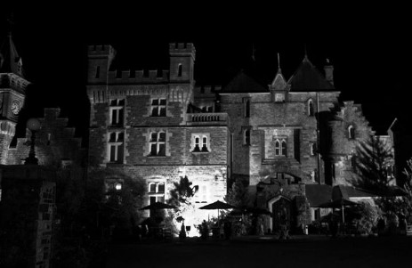 Brecon Beacons Wedding venue Craig y Nos Castle at night